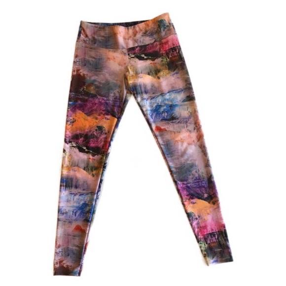 Onzie Pants Jumpsuits Anthropologie Yoga Leggings Ml Mountains Poshmark